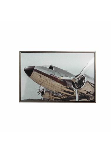 Warm Design Vintage Uçak Duvar Dekoru Renkli